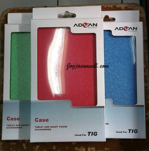 Flip Cover Advan T1G Original Gold